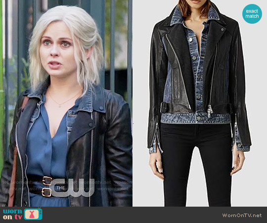 All Saints Frame Leather Biker Jacket worn by Liv Moore (Rose McIver) on iZombie