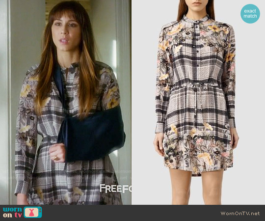 All Saints Sanko Kinori Dress worn by Troian Bellisario on PLL