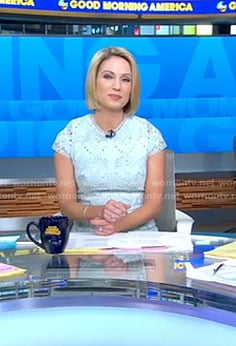Amy's blue lace dress on Good Morning America