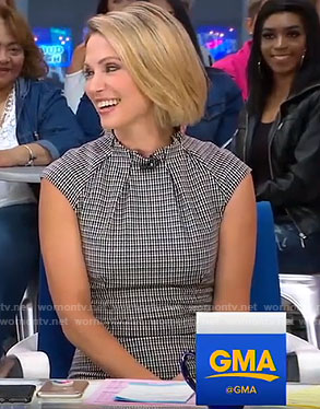 Amy's checked pencil dress on Good Morning America