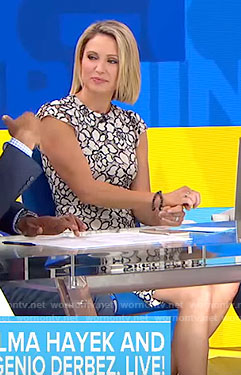 Amy's floral sheath dress on Good Morning America