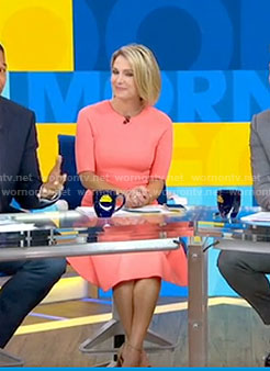 Amy's pink half sleeve dress on Good Morning America