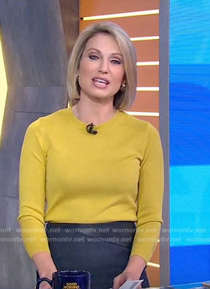 Amy's yellow sweater on Good Morning America