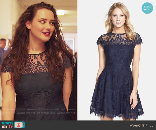BB Dakota Rihanna Dress worn by Hannah Baker (	Katherine Langford) on 13 Reasons Why
