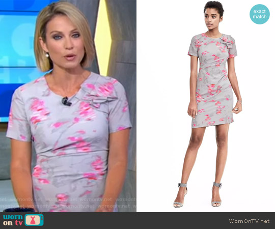 Ikat Ruffle Shoulder Dress by Banana Republic worn by Amy Robach  on Good Morning America