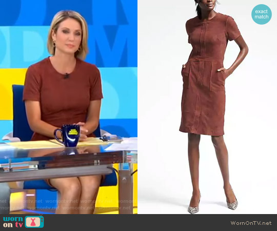Suede Dress by Banana Republic worn by Amy Robach on Good Morning America