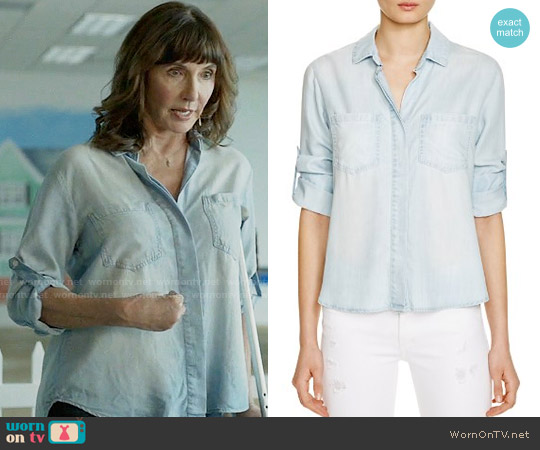 Bella Dahl Split Back Button-Down Chambray Shirt worn by Mary Steenburgen on Last Man On Earth