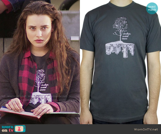 Broken Social Scene - Tree City T-Shirt worn by 	Katherine Langford on 13 Reasons Why