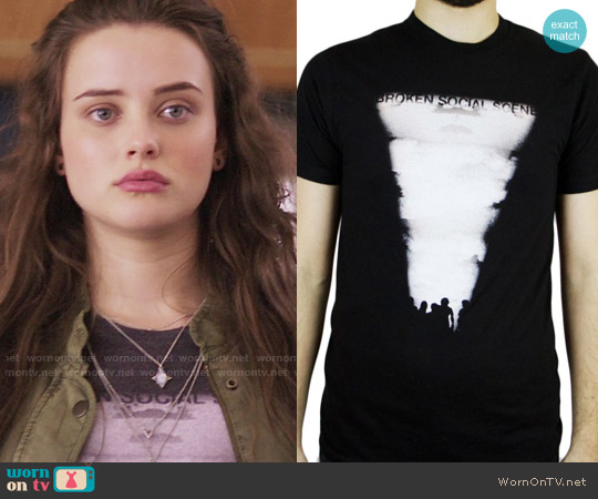 A&C Broken Social Scene - Unisex Lightblast T-Shirt worn by 	Katherine Langford on 13 Reasons Why