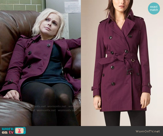 Burberry Lightweight Cotton Gabardine Trench Coat worn by Rose McIver on iZombie