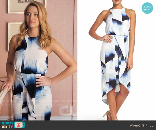 Chelsea28 Print Stretch Midi Dress worn by Yael Grobglas on Jane the Virgin