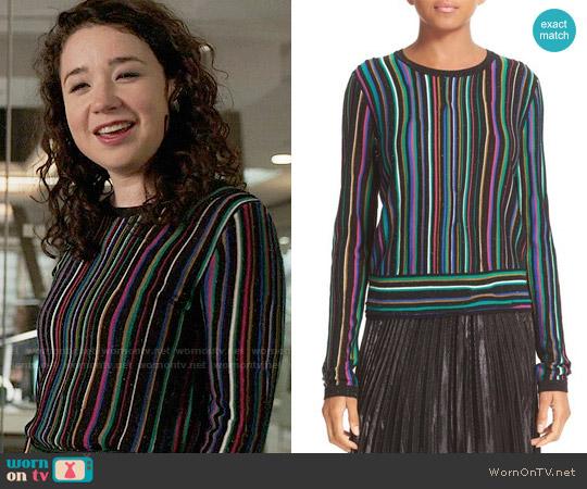 Diane von Furstenberg Arisha Sweater worn by Sarah Steele on The Good Fight