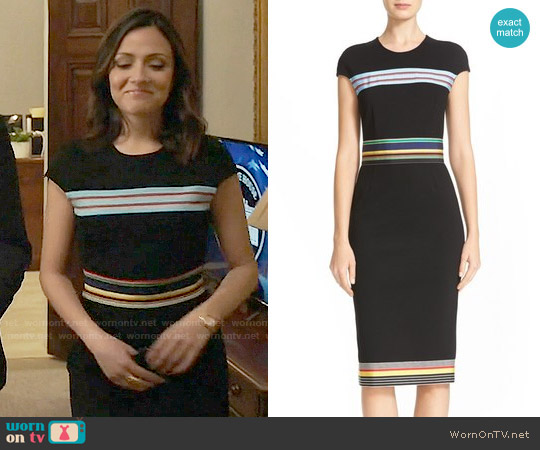 Diane von Furstenberg Hadlie Dress worn by Italia Ricci on Designated Survivor