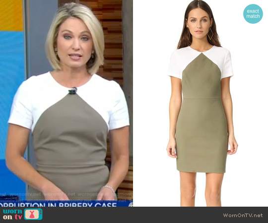 Short Sleeve Tailored Shift Dress by Diane von Furstenberg worn by Amy Robach on Good Morning America
