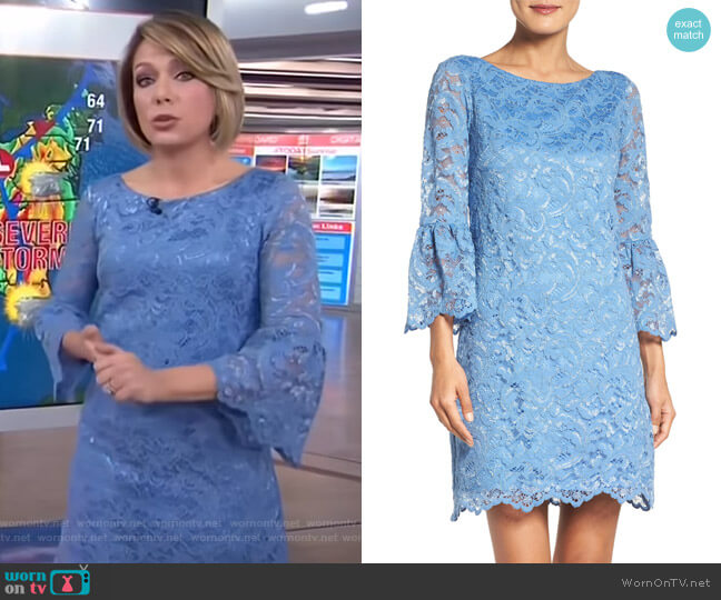 Bell Sleeve Lace Dress by Eliza J worn by Dylan Dreyer  on Today