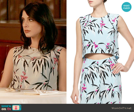 Elizabeth and James Cameo Leaf Print Top worn by Alexis Gleen (Niki Koss) on Famous in Love