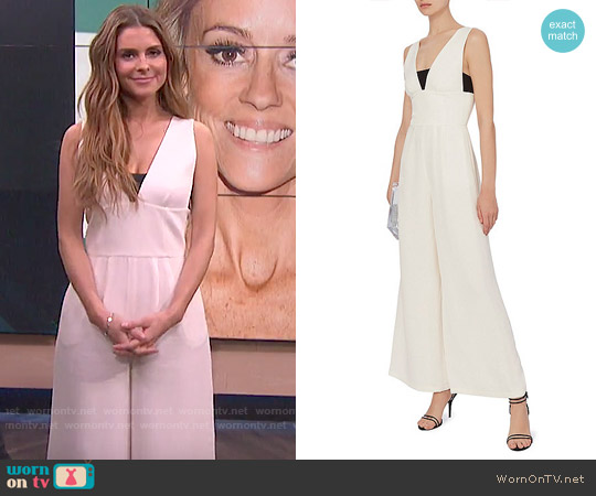 Fleur Du Mal Wide Leg Ivory Jumpsuit worn by Maria Menounos  on E! News