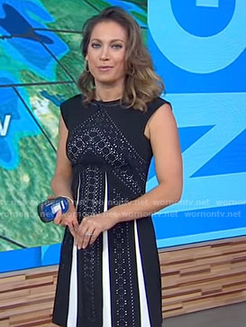 Ginger's black lace a-line dress on Good Morning America