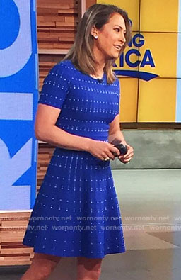 Ginger's blue short sleeve dress on Good Morning America