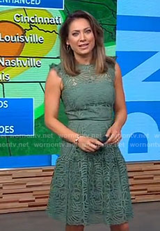 Ginger's green lace dress on Good Morning America