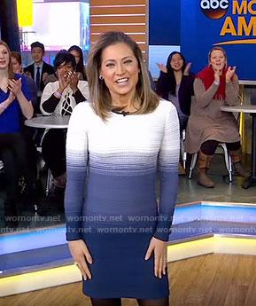 Ginger's ombre mini dress on Good Morning America