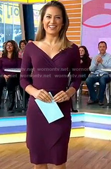 Ginger's purple wrap dress on Good Morning America