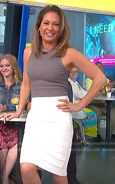 Ginger's white pencil skirt on Good Morning America