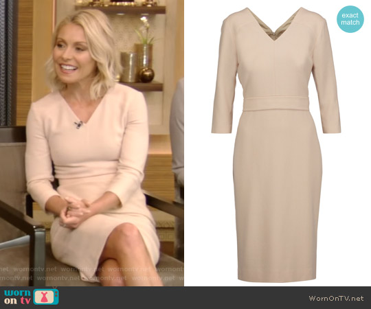 Bentley wool-crepe dress by Goat worn by Kelly Ripa on Live with Kelly & Ryan