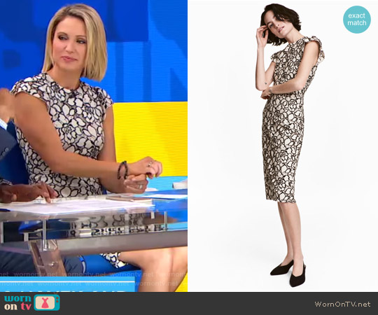 Jacquard-weave Dress by H&M worn by Amy Robach on Good Morning America