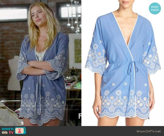 In Bloom by Jonquil Embroidered Cotton Robe worn by Ashley Benson on PLL