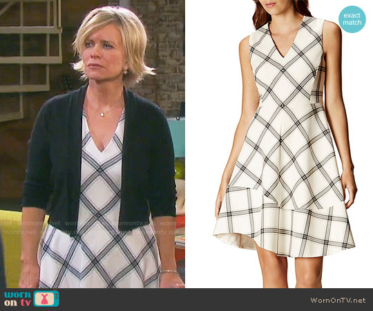 Karen Millen Check Print Dress worn by Kayla Brady (Mary Beth Evans) on Days of our Lives