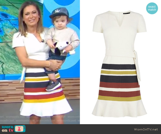 Frilled Hem Dress by Karen Millen worn by Ginger Zee on Good Morning America