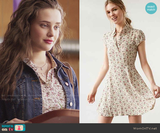 Kimchi Blue Rosebud Fit + Flare Shirt Dress worn by 	Katherine Langford on 13 Reasons Why