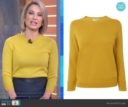 Maisy Sweater by L.K. Bennett worn by Amy Robach (Amy Robach) on Good Morning America