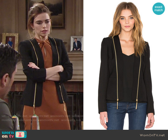 Rachel Zoe Hilary Blazer worn by Amelia Heinle on The Young & the Restless