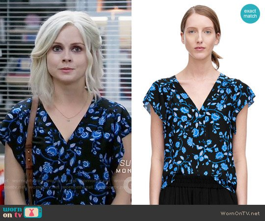 Rebecca Taylor Kyoto Floral Top worn by Rose McIver on iZombie