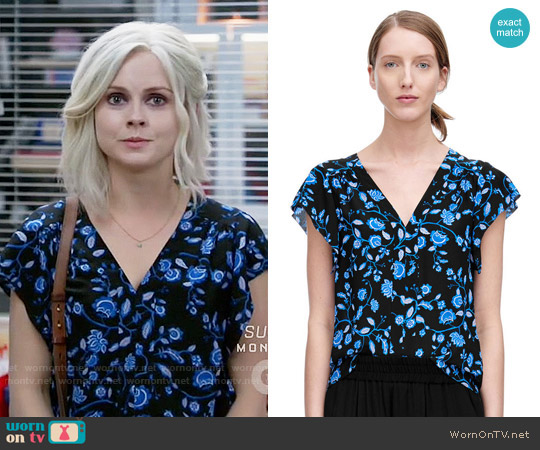 Rebecca Taylor Kyoto Floral Top worn by Liv Moore (Rose McIver) on iZombie