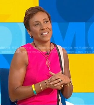 Robin's pink color-block dress on Good Morning America