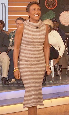 Robin's striped sleeveless dress on Good Morning America