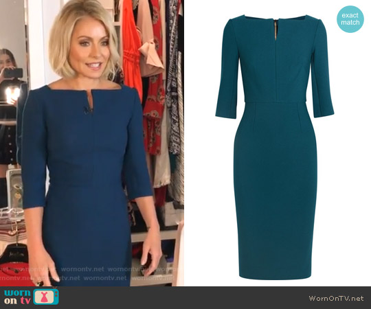 Etty stretch-crepe dress by Roland Mouret worn by Kelly Ripa (Kelly Ripa) on Live with Kelly & Ryan