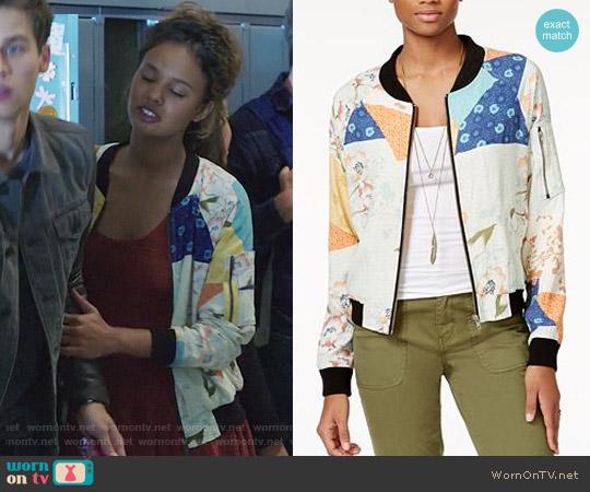 Sanctuary Laurel Canyon Bomber Jacket worn by Alisha Boe on 13 Reasons Why