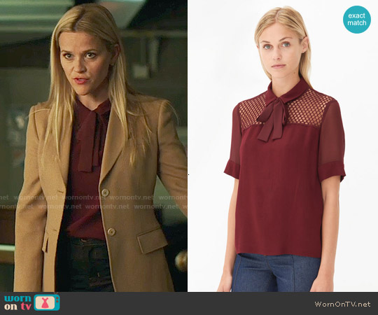 Sandro Evora Top worn by Madeline Martha Mackenzie (Reese Witherspoon) on Big Little Lies