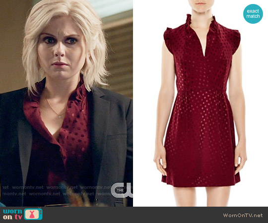 Sandro Jasmine Dot Print Dress worn by Liv Moore (Rose McIver) on iZombie