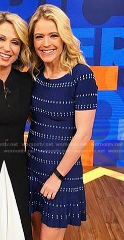 Sara's blue knit dress on Good Morning America