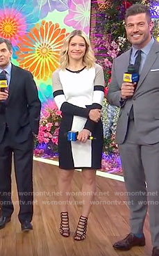 Sara's color-block long sleeve dress on Good Morning America