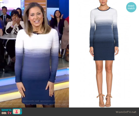 Brooklyn Dress by Shoshanna worn by Ginger Zee on Good Morning America