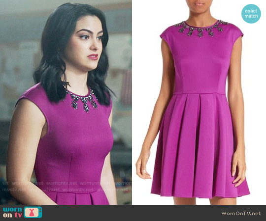 Wornontv Veronica S Magenta Dress With Embellished