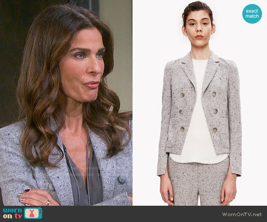 Theory Jontia Jacket worn by Hope Williams (Kristian Alfonso) on Days of our Lives