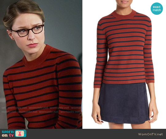 Theory Lemdora Prosecco Sweater worn by Melissa Benoist on Supergirl