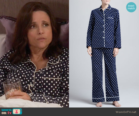 Three J New York Jamie Polka-Dot Pajamas worn by Julia Louis-Dreyfus on Veep